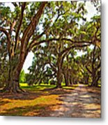 Memory Lane Oil Metal Print