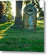 Memphis Elmwood Cemetery - Backlit Grave Stones Metal Print