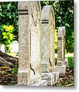 Memphis Elmwood Cemetery Monument - Four In A Row Metal Print