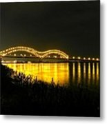 Memphis - Hernando De Soto Bridge 001 Metal Print by Lance Vaughn