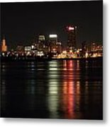 Memphis Tn Skyline At Night Metal Print