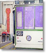Memphis Trolley Metal Print