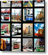 Memphis Trolleys Metal Print