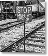 Men At Work Metal Print