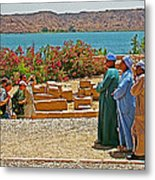 Men On Philae Island In Aswan-egypt  Metal Print