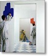 Men Painting Walls Metal Print