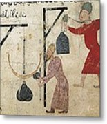 Men Weighing Goods. Fatimid Period Metal Print by Everett
