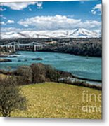 Menai Bridge 1819 Metal Print