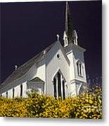 Mendocino Presbyterian Church Metal Print by Ron Sanford