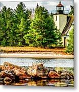 Mendota Bete Grise Lighthouse Metal Print