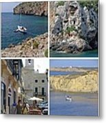 Menorca Collage 02 - Labelled Metal Print