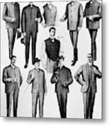 Men's Fashion, 1902 Metal Print