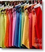 Mens Tuxedo Vests In A Rainbow Of Colors Metal Print