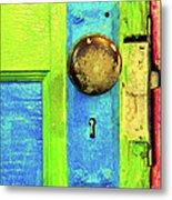 Mercado Door Metal Print