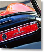 Mercedes 300 Sl Dashboard Emblem Metal Print