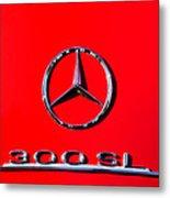 Mercedes 300 Sl Emblem -0121c Metal Print