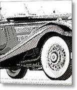 Mercedes 540k  - Parallel Hatching Metal Print