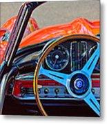 Mercedes-benz 300 Sl Steering Wheel Emblem Metal Print