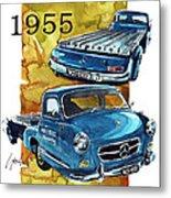 Mercedes Benz Racing Car Transport Metal Print