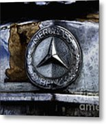 Mercedes Benz Shabby Chic Metal Print