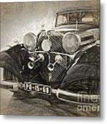 Mercedes Benz Vintage Metal Print