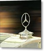 Mercedes Hood Ornament Metal Print
