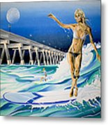 Mercers Surfer Metal Print