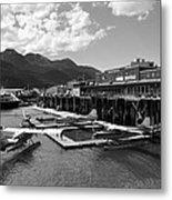 Merchants Wharf In Black And White Metal Print