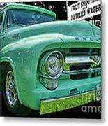 Mercury Truck Bw Background Metal Print