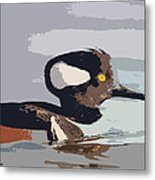Merganser Reflections Metal Print