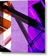 Merged - Purple City Metal Print