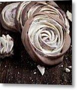 Meringue Rose Metal Print