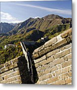 Merlon View Of The Great Wall 1037 Metal Print