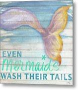 Mermaid Bath II Metal Print