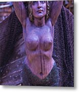 Mermaid Figure Head Metal Print