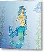 Mermaid Paint The Sea  Metal Print