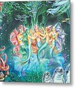 Mermaids Danicing Metal Print