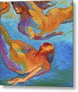 Mermaids Swimming Metal Print