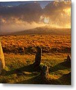 Merrivale Stone Rows Metal Print