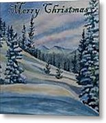Merry Christmas - Winter Landscape Metal Print