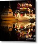 Merry Christmas Bandon By The Sea 1 Metal Print