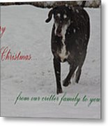 Merry Christmas Critters Hershey Metal Print