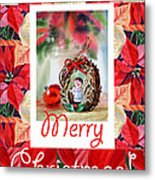 Merry Christmas From An Angel Metal Print