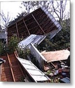 Merry Christmas From Mother Nature - I'm A Tornado Metal Print