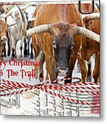 Merry Christmas From The Trail Metal Print