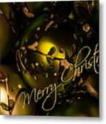 Merry Christmas Greeting Metal Print