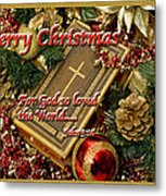 Merry Christmas - John 3 V16 Metal Print