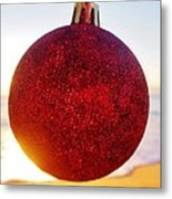 Merry Christmas Ornament Sunrise 11 12/17 Metal Print