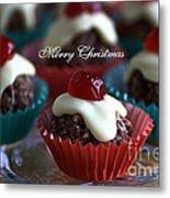 Merry Christmas - Puddings Metal Print