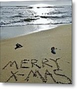 Merry Christmas Sand Art 5 12/25 Metal Print